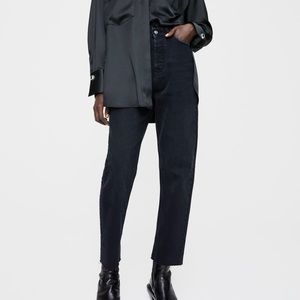 Zara high rise cigarette jeans